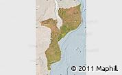 Satellite Map of Mozambique, lighten