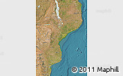 Satellite Map of Mozambique
