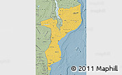 Savanna Style Map of Mozambique