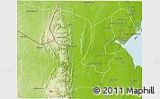 Physical 3D Map of Namaacha