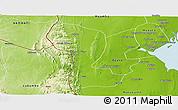 Physical Panoramic Map of Namaacha