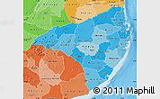 Political Shades Map of Nampula