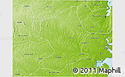 Physical 3D Map of Monapo