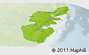 Physical Panoramic Map of Mossuril, lighten