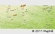 Physical Panoramic Map of Murrupula