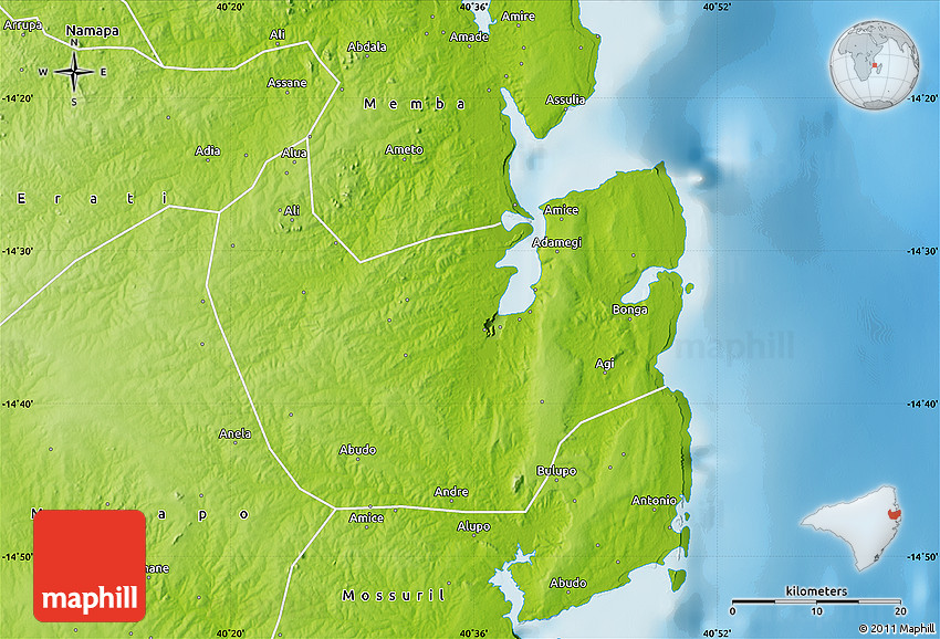 Physical Map of Nacala Velha