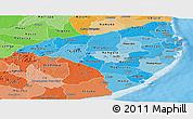 Political Shades Panoramic Map of Nampula