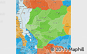 Political Shades 3D Map of Nassa