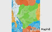Political Shades Map of Nassa