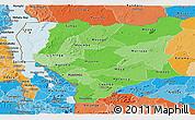 Political Shades Panoramic Map of Nassa
