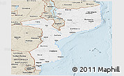 Classic Style Panoramic Map of Mozambique