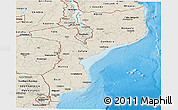 Shaded Relief Panoramic Map of Mozambique