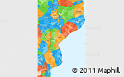 Political Simple Map of Mozambique
