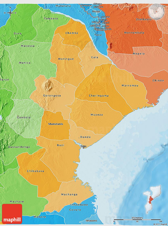 Sofala Map Africa