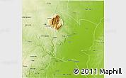 Physical 3D Map of Gorongosa