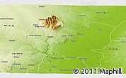 Physical Panoramic Map of Gorongosa