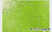 Physical 3D Map of Nhamatanda