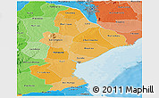 Political Shades Panoramic Map of Sofala