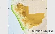 Physical Map of Kunene, lighten