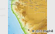 Physical Map of Kunene