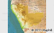 Physical Map of Kunene, satellite outside
