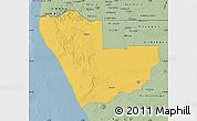 Savanna Style Map of Kunene