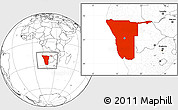 Blank Location Map of Namibia