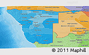 Political Shades Panoramic Map of Namibia