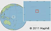 Blank Location Map of Nauru