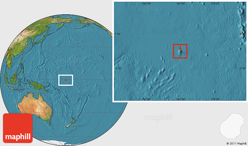 Satellite Location Map of Nauru