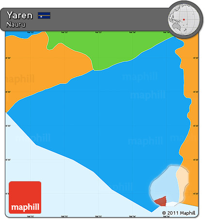 Free Political Simple Map of Yaren