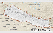 Classic Style 3D Map of Nepal