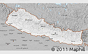 Gray 3D Map of Nepal