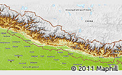 Physical 3D Map of Nepal