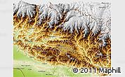 Physical 3D Map of Bagmati