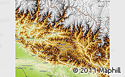 Physical Map of Bagmati