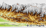 Physical Panoramic Map of Bagmati