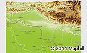 Physical 3D Map of Narayani