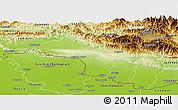 Physical Panoramic Map of Narayani