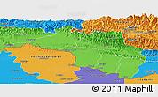 Political Panoramic Map of Narayani