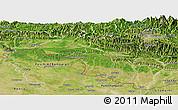 Satellite Panoramic Map of Narayani