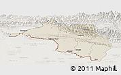 Shaded Relief Panoramic Map of Narayani, lighten