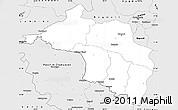 Silver Style Simple Map of Narayani