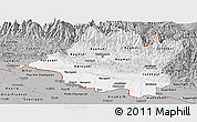 Gray Panoramic Map of Central
