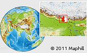 Physical Location Map of Sagarmath, highlighted parent region