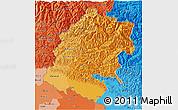 Political Shades 3D Map of Far West