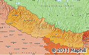 Political Shades Map of Nepal