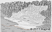 Gray Panoramic Map of Rapti