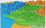 Political Panoramic Map of Rapti