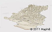 Shaded Relief Panoramic Map of Rapti, cropped outside